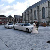 twee-witte-limousines-huwelijk